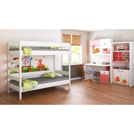 Bunk Bed - Diego D2 For Kids Children Juniors with Ladder on the Side (Short Edge)