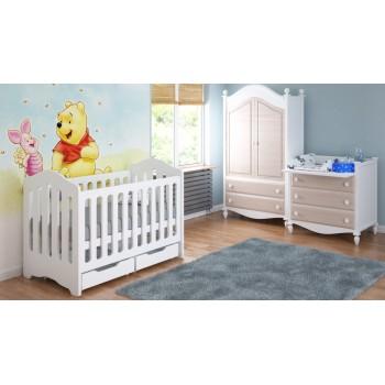 Kiságy ágy csecsemőknek 120x60x95